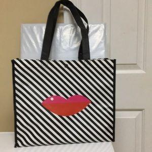 Sephora VIP Striped Lip Reusable Tote Bag